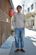 画像5: 【MORE SALE】 Beautifical(ビューティフィカル) HENLY NECK L/S Tee [LT.GRAY] (5)