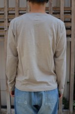 画像3: 【MORE SALE】 Beautifical(ビューティフィカル) HENLY NECK L/S Tee [LT.GRAY] (3)