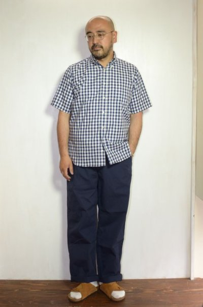 画像1: MASTER & Co. (マスターアンドコー) CHINO PANTS with BELT [NAVY]
