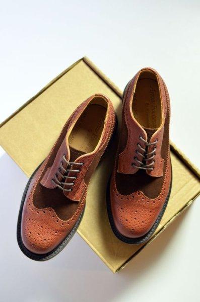 画像1: 【MORE SALE】  Arrow Footwear by White & Co. 1890 (アローフットウェア バイ ホワイトアンドコー1890) BROWN 5 EYE BLOGUE SHOE 【別注】 (1)