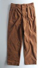 画像2: 【MORE SALE】*A VONTADE (アボンタージ) 2 Tuck Atrlier Trousers [BROWN] (2)