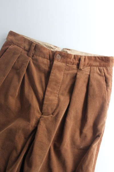 画像1: 【SALE】*A VONTADE (アボンタージ) 2 Tuck Atrlier Trousers [BROWN] (1)