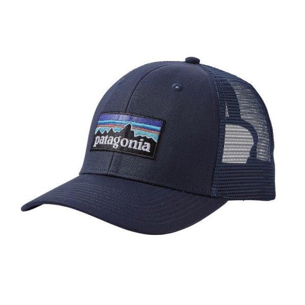 画像1: patagonia (パタゴニア) P-6 ロゴ・トラッカー・ハット [NVNV] (1)