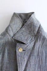 画像4: 【MORE SALE】*A VONTADE (アボンタージ) Linen Duster Coat  [NAVY GREN CHECK] (4)