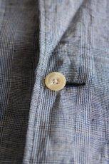 画像5: 【MORE SALE】*A VONTADE (アボンタージ) Linen Duster Coat  [NAVY GREN CHECK] (5)