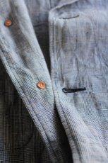 画像8: 【MORE SALE】*A VONTADE (アボンタージ) Linen Duster Coat  [NAVY GREN CHECK] (8)