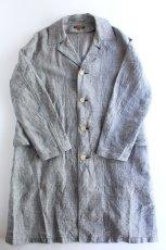 画像2: 【MORE SALE】*A VONTADE (アボンタージ) Linen Duster Coat  [NAVY GREN CHECK] (2)