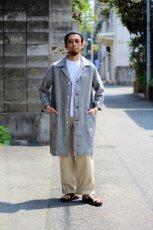 画像11: 【MORE SALE】*A VONTADE (アボンタージ) Linen Duster Coat  [NAVY GREN CHECK] (11)