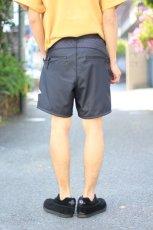 画像14: 【MORE SALE】and wander (アンドワンダー) double jacquard knit short pants [CHARCOAL] (14)
