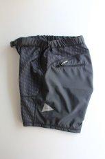 画像9: 【MORE SALE】and wander (アンドワンダー) double jacquard knit short pants [CHARCOAL] (9)