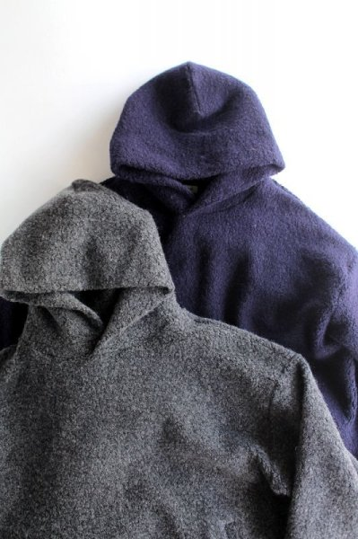 画像1: 【MORE SALE】blurhms (ブラームス) Wool Pile Short Hoodie [2-colors] (1)
