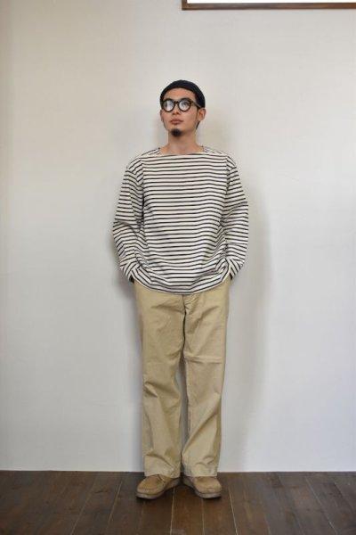 画像1: MASTER & Co. (マスターアンドコー) CHINO PANTS with BELT [BEIGE]