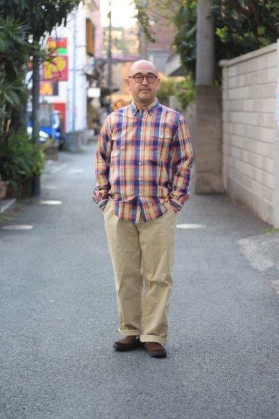 画像2: MASTER & Co. (マスターアンドコー) CHINO PANTS with BELT [BEIGE]