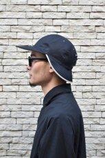 画像11: 【SALE】Indietro Association (インディエトロアソシエーション) Sunshade cap [BLACK] (11)