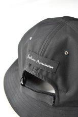 画像6: 【SALE】Indietro Association (インディエトロアソシエーション) Sunshade cap [BLACK] (6)