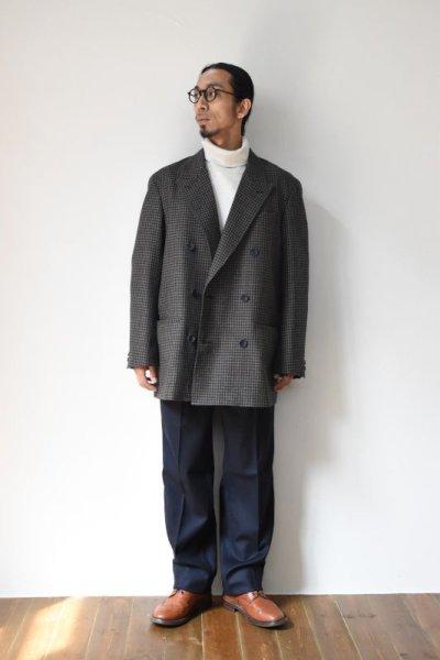 画像1: Scye (サイ) Shetland Wool Tweed D・B Short Coat [CAMEL]