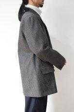 画像13: Scye (サイ) Shetland Wool Tweed D・B Short Coat [CAMEL] (13)