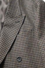 画像6: Scye (サイ) Shetland Wool Tweed D・B Short Coat [CAMEL] (6)