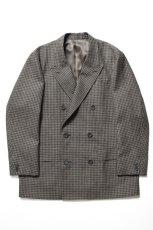 画像2: Scye (サイ) Shetland Wool Tweed D・B Short Coat [CAMEL] (2)