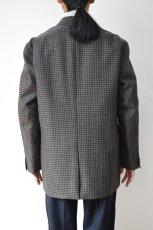 画像14: Scye (サイ) Shetland Wool Tweed D・B Short Coat [CAMEL] (14)