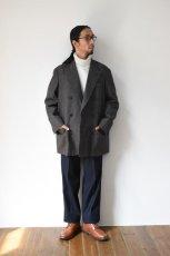 画像16: Scye (サイ) Shetland Wool Tweed D・B Short Coat [CAMEL] (16)
