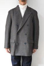 画像12: Scye (サイ) Shetland Wool Tweed D・B Short Coat [CAMEL] (12)