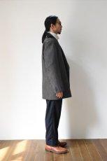 画像18: Scye (サイ) Shetland Wool Tweed D・B Short Coat [CAMEL] (18)