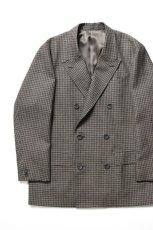 画像1: Scye (サイ) Shetland Wool Tweed D・B Short Coat [CAMEL] (1)