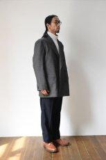 画像17: Scye (サイ) Shetland Wool Tweed D・B Short Coat [CAMEL] (17)