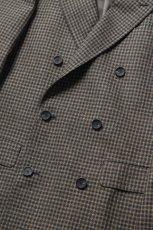 画像4: Scye (サイ) Shetland Wool Tweed D・B Short Coat [CAMEL] (4)