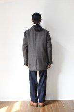 画像19: Scye (サイ) Shetland Wool Tweed D・B Short Coat [CAMEL] (19)