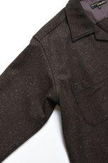 画像5: MOJITO (モヒート) ABSHINTH SHIRT Bar.2.0 -wool nep stretch- [BLK] (5)