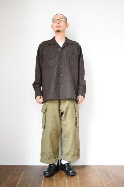 画像1: MOJITO (モヒート) ABSHINTH SHIRT Bar.2.0 -wool nep stretch- [BLK]