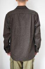 画像14: MOJITO (モヒート) ABSHINTH SHIRT Bar.2.0 -wool nep stretch- [BLK] (14)