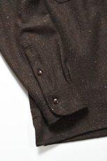 画像7: MOJITO (モヒート) ABSHINTH SHIRT Bar.2.0 -wool nep stretch- [BLK] (7)