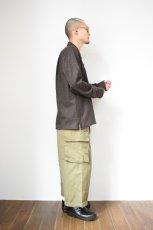 画像16: MOJITO (モヒート) ABSHINTH SHIRT Bar.2.0 -wool nep stretch- [BLK] (16)