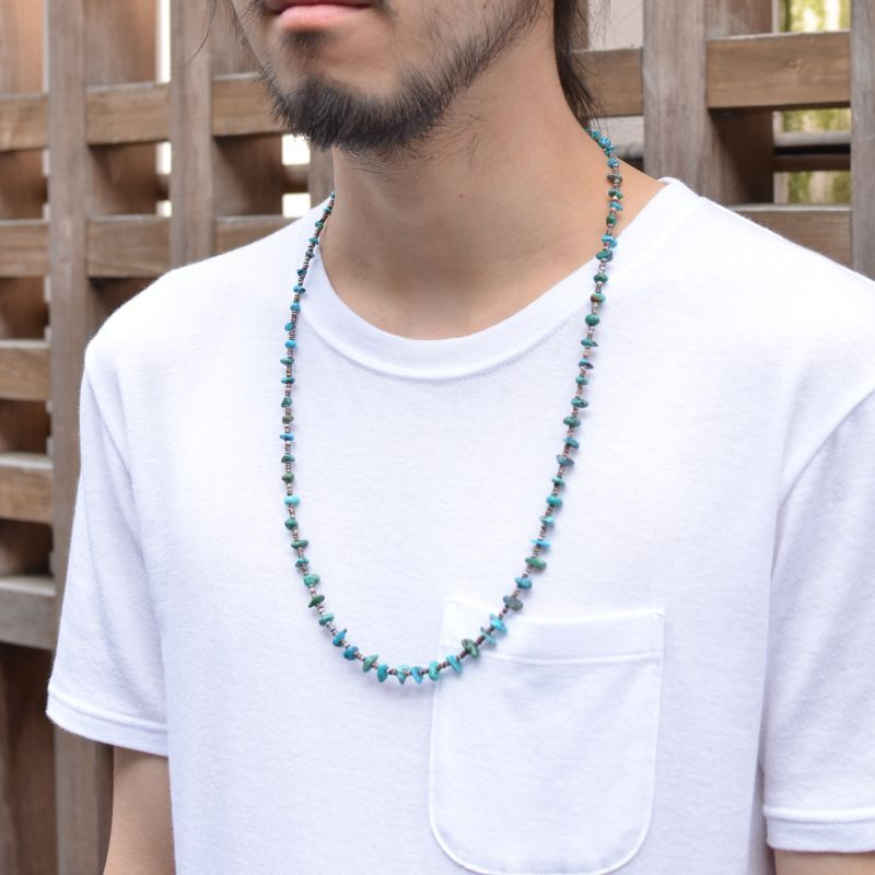 画像1: Colina Yazzie (コリーナヤジー) Turquoise Nugget Necklace  (1)