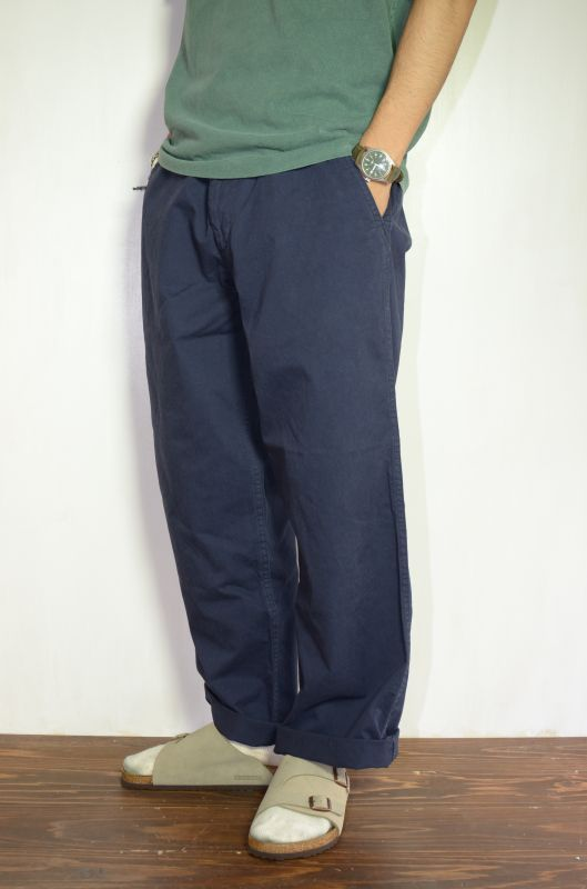 画像1: MASTER & Co. (マスターアンドコー) CHINO PANTS with BELT [NAVY] (1)