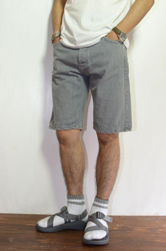 画像1: 【SALE】 WAIT (ウェイト) Jean Shorts [gray] (1)