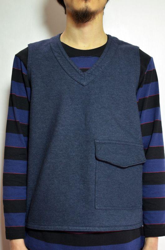 画像1: 【MORE SALE】  Niche (ニッチ) Pasar Vest [NAVY] (1)