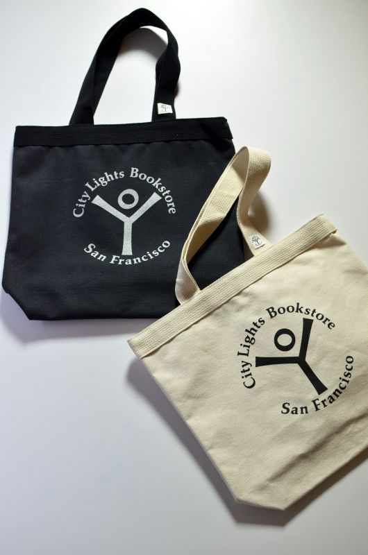 画像1: City Lights Bookstore (シティーライツブックストアー) Logo Tote Bag [2-colors] (1)