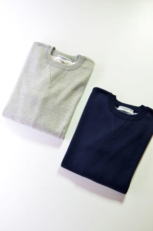 画像1: 【MORE SALE】FUJITO (フジト) Crew Neck Sweater [2-colors] (1)