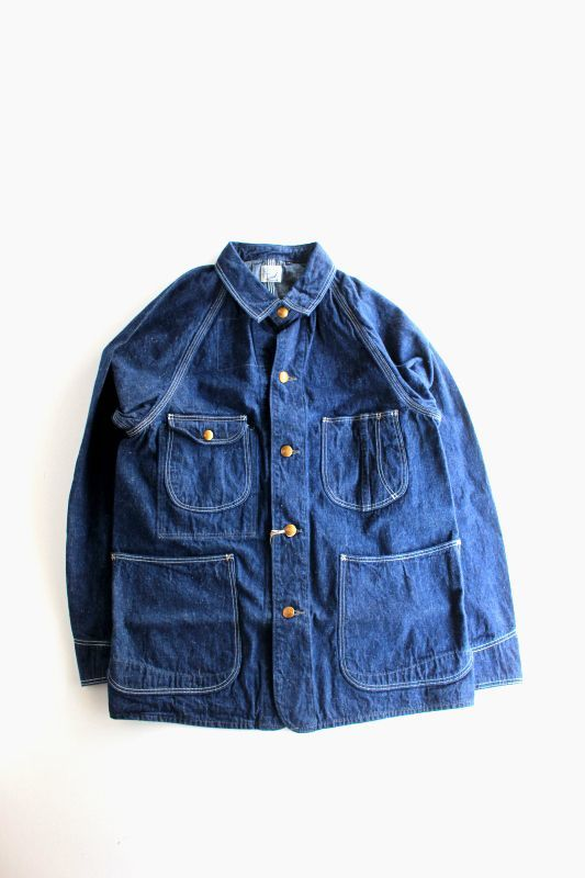 画像1: orslow (オアスロウ) 50's DENIM COVER ALL [DENIM ONE WASH] (1)