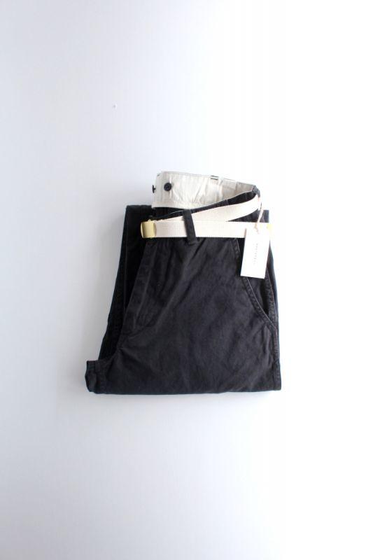 画像1: MASTER & Co. (マスターアンドコー) CHINO PANTS with BELT [BLACK] (1)