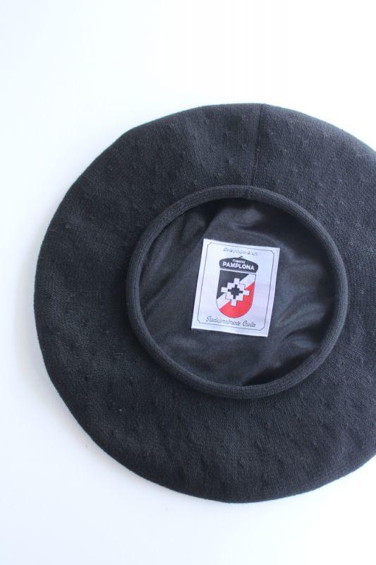 画像1: PAMPLONA (パンプローナ) Beret [BLACK] (1)