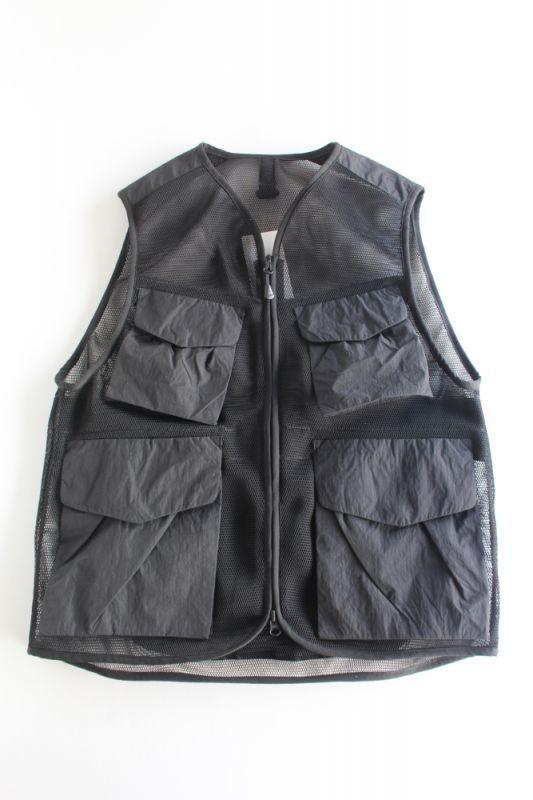 画像1: 【MORE SALE】snow peak(スノーピーク) Mesh Vest [BLACK] (1)