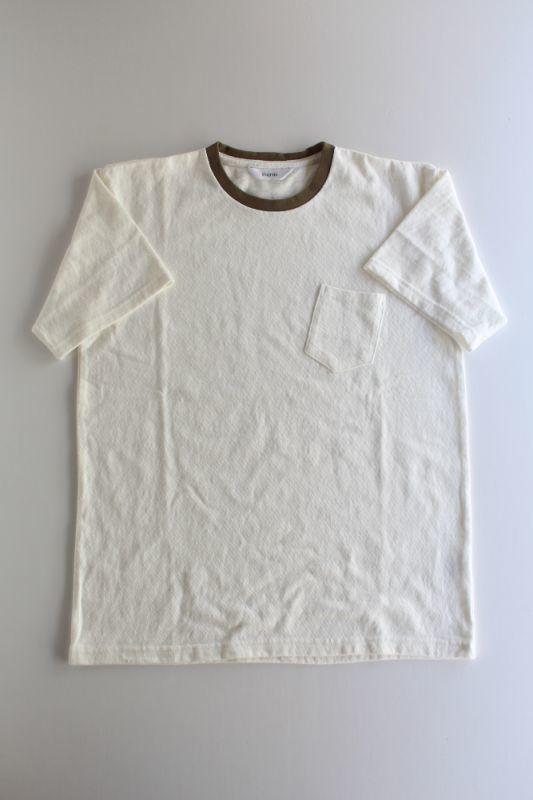 画像1: 【MORE SALE】FUJITO (フジト) C/N Pocket T-Shirt [WHITE/KHAKI] (1)