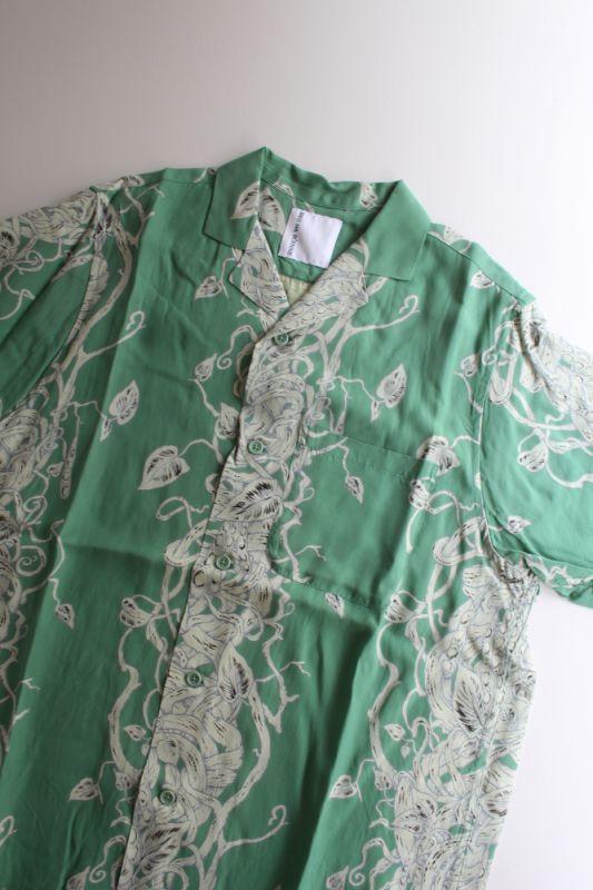 画像1: BRU NA BOINNE (ブルーナボイン) ジャックシャツ [GREEN] (1)