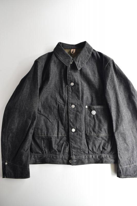 画像1: SCYE BASICS (サイベーシックス) Selvege Black Denim Jacket (1)