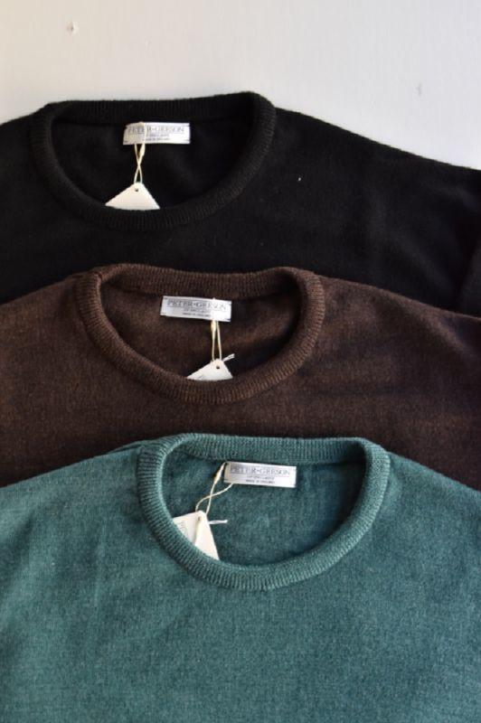 画像1: 【MORE SALE】PETER GEESON (ピーターギーソン) CREW NECK [3-colors]  (1)